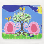 Elephants Parading in the Forest Mouse Mats