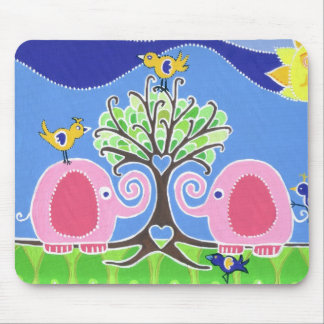 Elephants Parading in the Forest Mouse Pad
