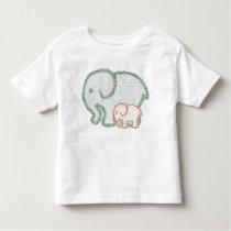 Elephants Pattern - Mama and Baby Toddler T-shirt