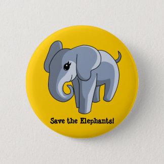 Elephants Pinback Button