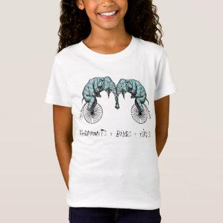 Elephants Plus Bikes Equal YIKES! T-Shirt