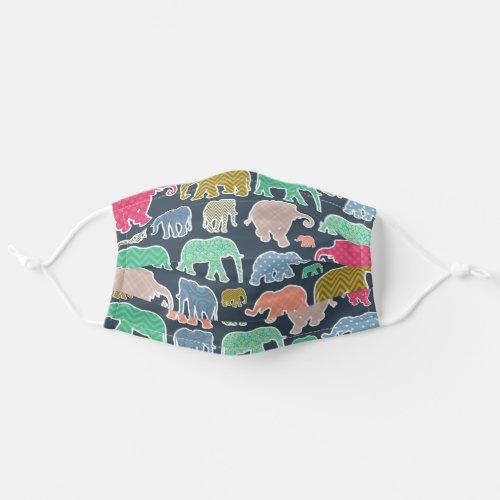 Elephants Polka Dots Zigzag Chevron Gingham Cloth Face Mask