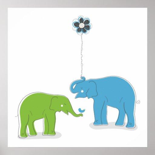 Elephants Print
