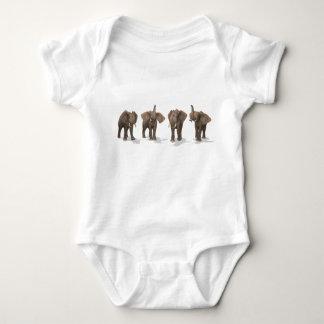 Elephants Quartet Baby Bodysuit