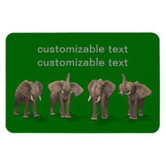Elephants Quartet Flexible Magnets