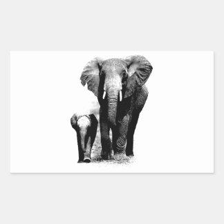 Elephants Rectangular Sticker