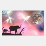 Elephants Rectangular Stickers