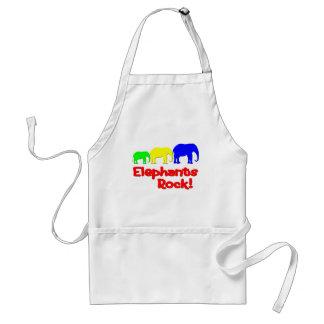 Elephants Rock! Adult Apron