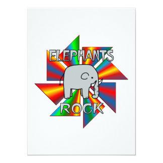 Elephants Rock 5.5x7.5 Paper Invitation Card