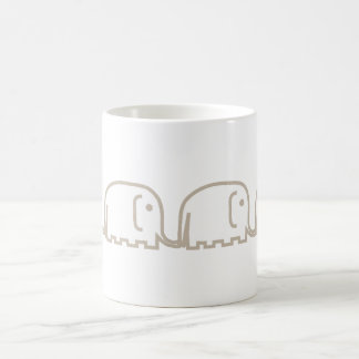 elephants row coffee mug