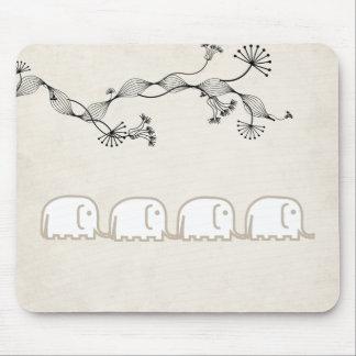 elephants row mouse pad
