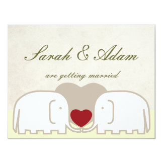 elephants row save the date personalized invitation