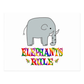 Elephants Rule Postcard