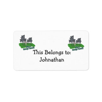 elephants scared of mouse funny forest vector cart address label