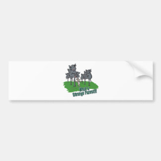 elephants scared of mouse funny forest vector cart car bumper sticker