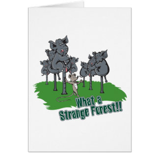 elephants scared of mouse funny forest vector cart card