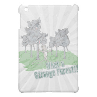 elephants scared of mouse funny forest vector cart iPad mini cases