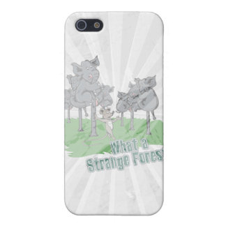 elephants scared of mouse funny forest vector cart iPhone SE/5/5s case