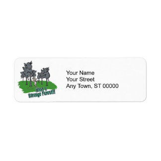 elephants scared of mouse funny forest vector cart label