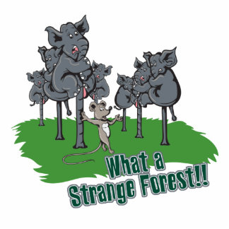 elephants scared of mouse funny forest vector cart photo sculpture keychain