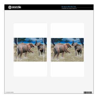 Elephants Serengeti Challenge Skin For Kindle Fire