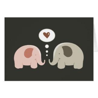 Elephants Soul Mates card