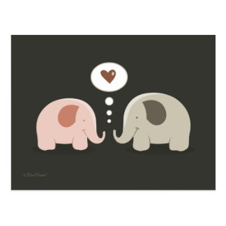 Elephants Soul Mates postcard