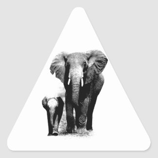 Elephants Triangle Sticker