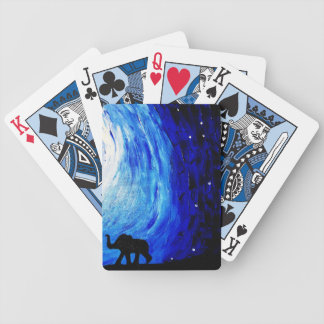 Elephants Under Moonlight (K.Turnbull Art) Bicycle Playing Cards