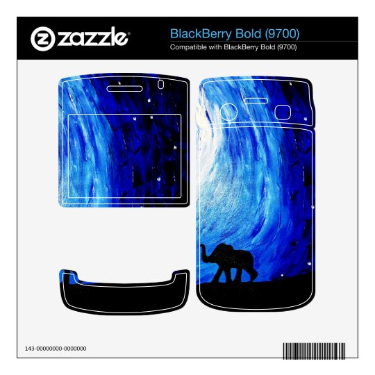 Elephants Under Moonlight (K.Turnbull Art) BlackBerry Decals
