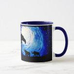 Elephants Under Moonlight (K.Turnbull Art) Mug
