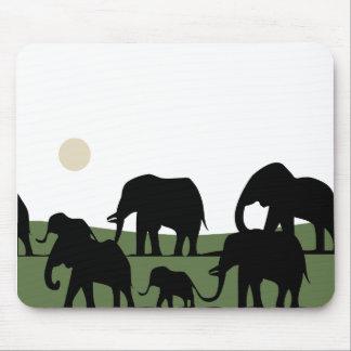 Elephants walking mouse pad