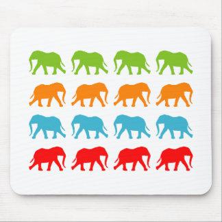 Elephants Walking Pattern Mouse Pad