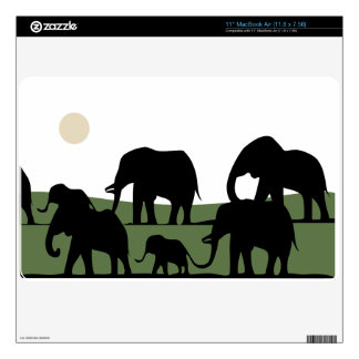 """Elephants walking 11"""" MacBook air skins"""