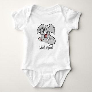 Elephant's Wild Smile Baby Bodysuit