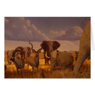 Elephants!  wildlife! card