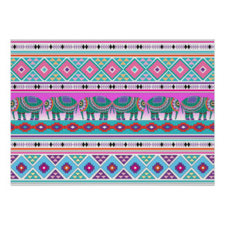 Elephants with Aztec Pattern Beautiful Poster