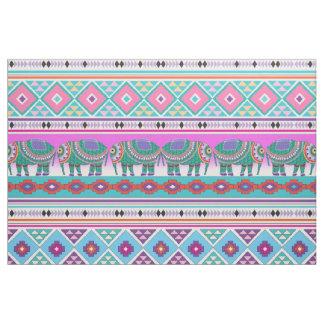 Elephants with Aztec Pattern Fabric