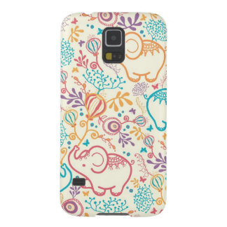 Elephants with bouquets pattern case for galaxy s5