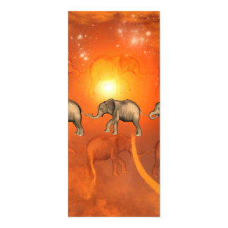 Elephants with light effects magnetic invitations