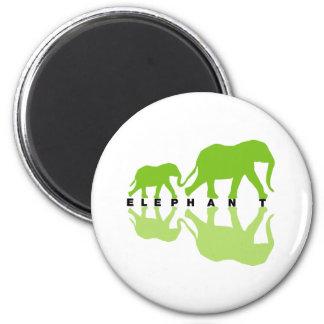 Elephants with Reflection Fridge Magnet