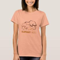 ElephantVoices Logo Tee (Candy Orange)