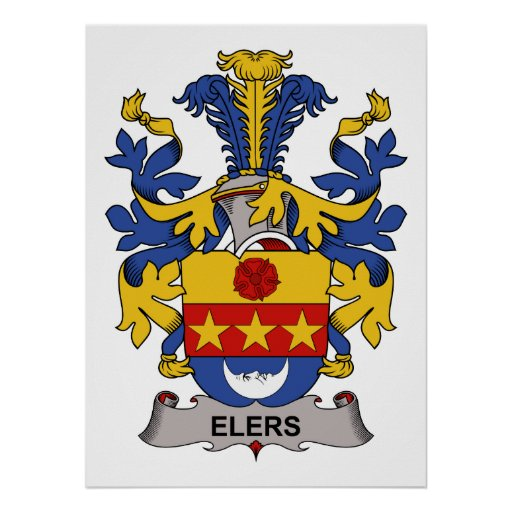Elers Family Crest Poster
