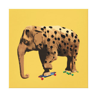 Eletah - The Elephant Who Wanted to be a Cheetah. Canvas Print