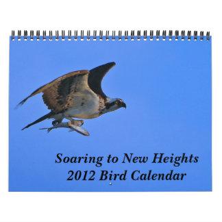 Elevación a las nuevas alturas calendario de pared
