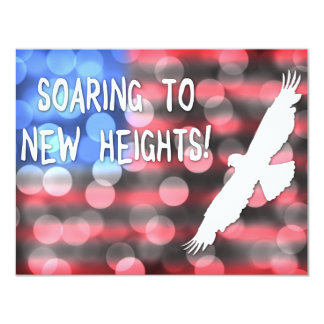 """elevación a las nuevas alturas invitación 4.25"""" x 5.5"""""""