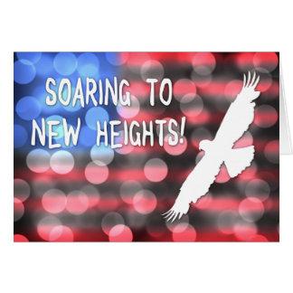 elevación a las nuevas alturas tarjeta de felicitación