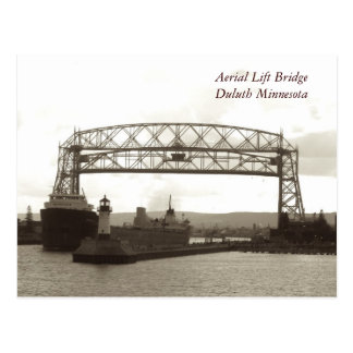 Elevación aérea BridgeDuluth Minnesota Postales
