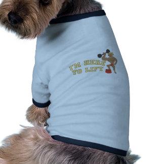 Elevación aquí camiseta con mangas para perro