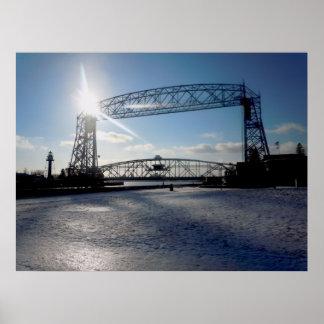 Elevación Brige de Duluth Minnesota Póster